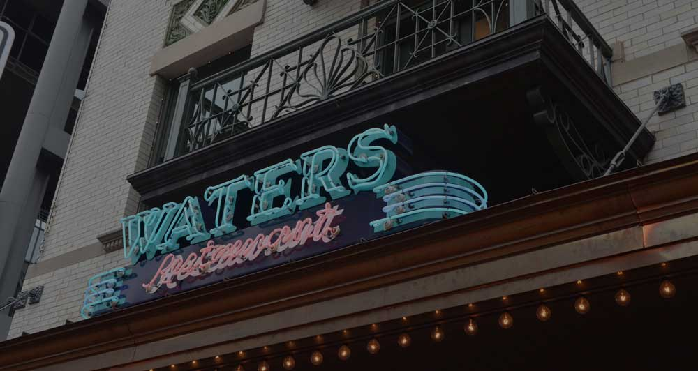 Waters Restaurant signage